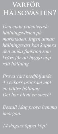 hälsovästen återförsäljare stockholm
